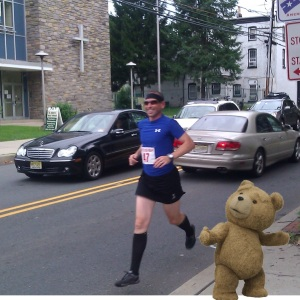"""Early on in """"The Beast"""" (before the hills) - this little guy followed us around a bit; he was a good pacer."""
